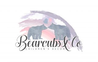 rainbow, watercolor logos, kids logo, childrens decor logo, bears