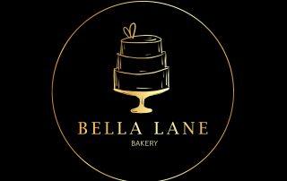 hand drawn, cake logo, bakery, gold logo