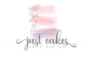 cake, bakery, watercolour logos, logo design, cake logo
