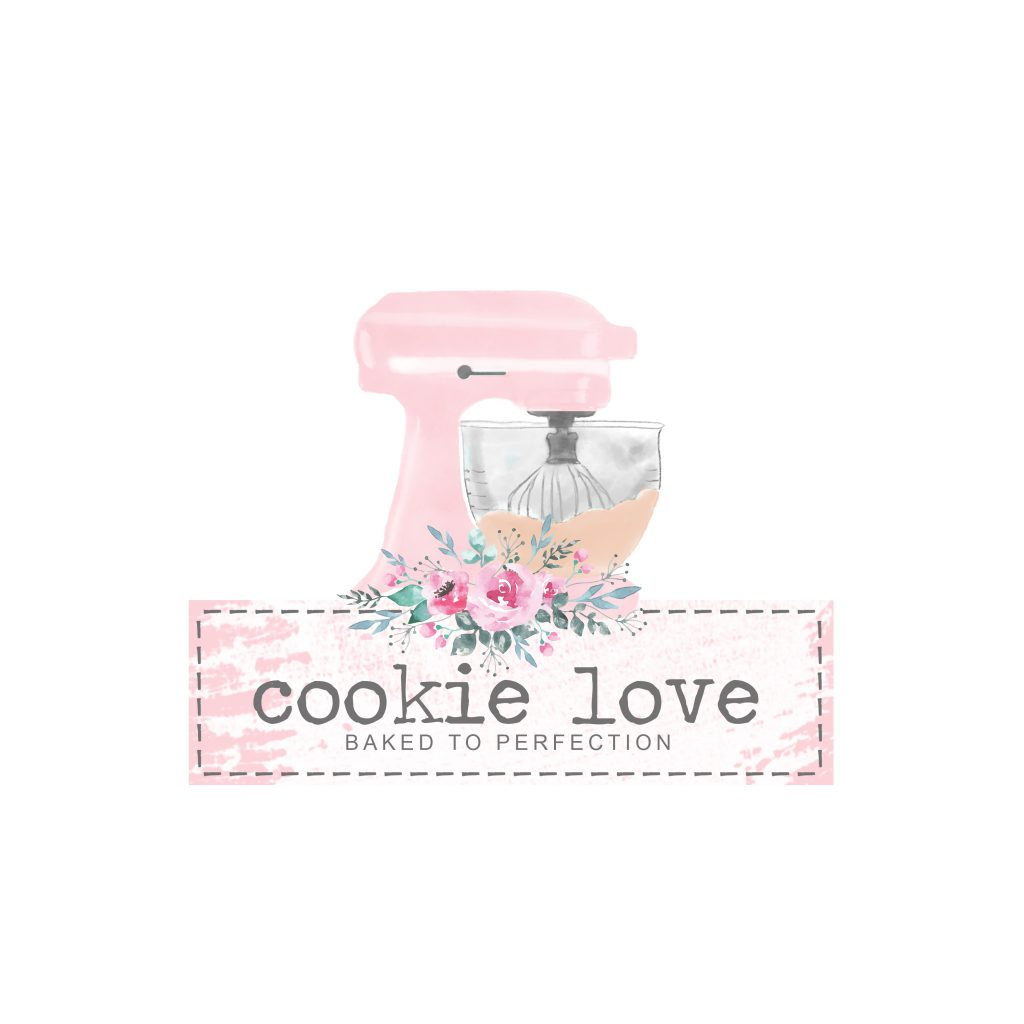watercolour mixer, kitchen aid, clipart, pink mixer, cookie, bakery logo, watercolour logos