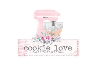 watercolour mixer, kitchen aid, clipart, pink mixer, cookie, bakery logo, watercolour logos