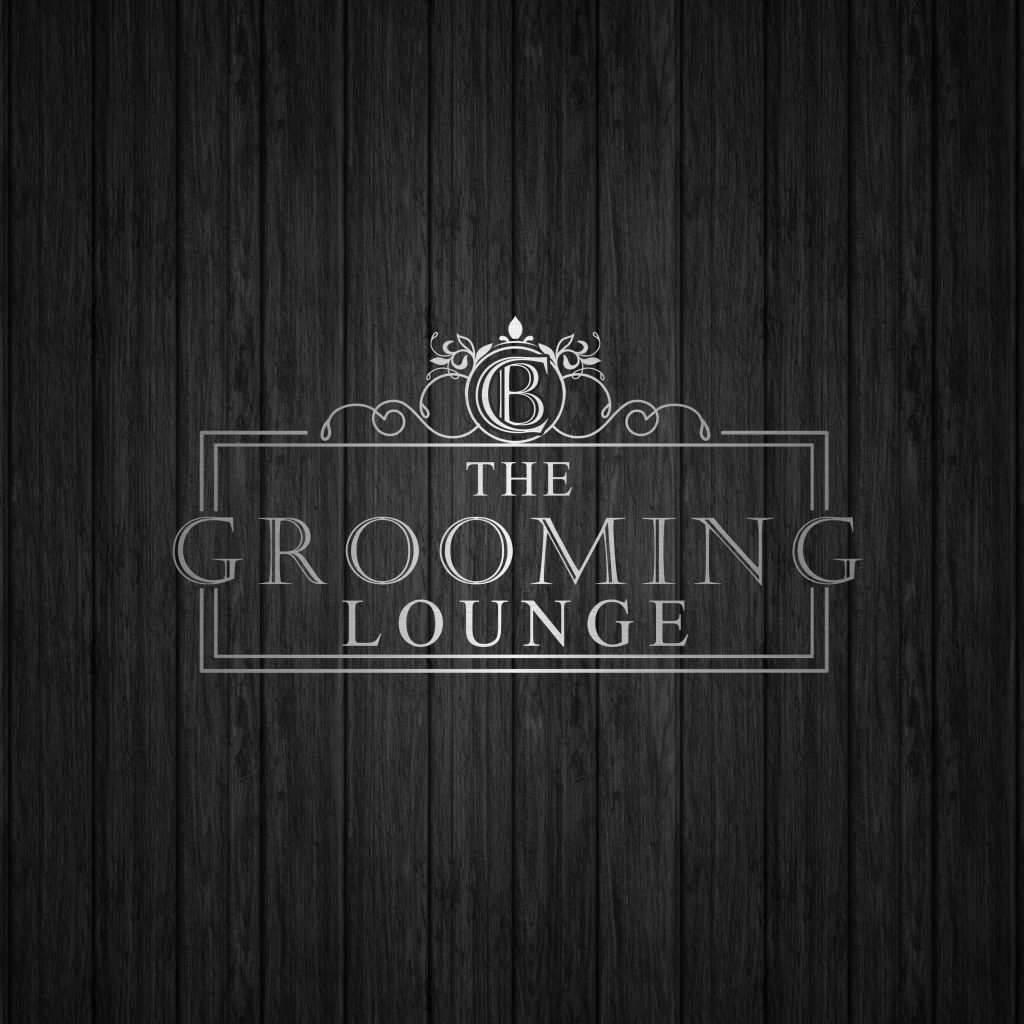 dog grooming, monogram, logo, silver, stylish, minimal, the grooming lounge logo, silver, black