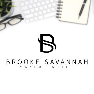 monogram logo, BS, beauty, make up, black logo