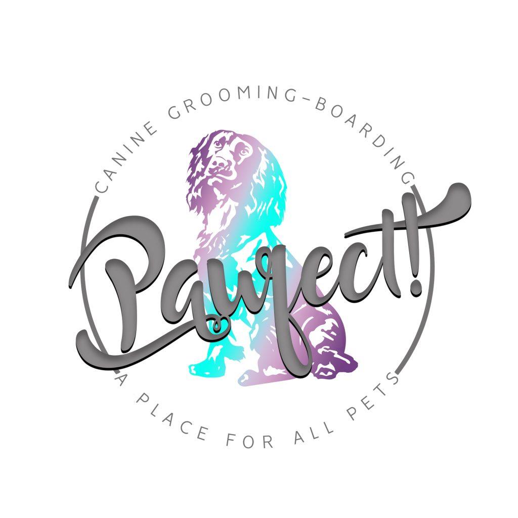 cocker spaniel, art, logo, silhoutte, clip art, unique dog grooming logo