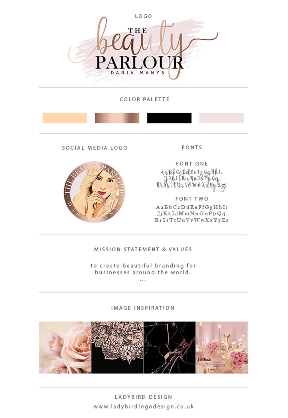 Cartoon lady, beauty logo, cartoon person, blush pink and rose gold logo, nails logo