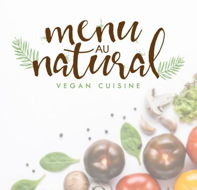 Vegan logo, food logo, cooking, watercolour leaves, floral, procreate