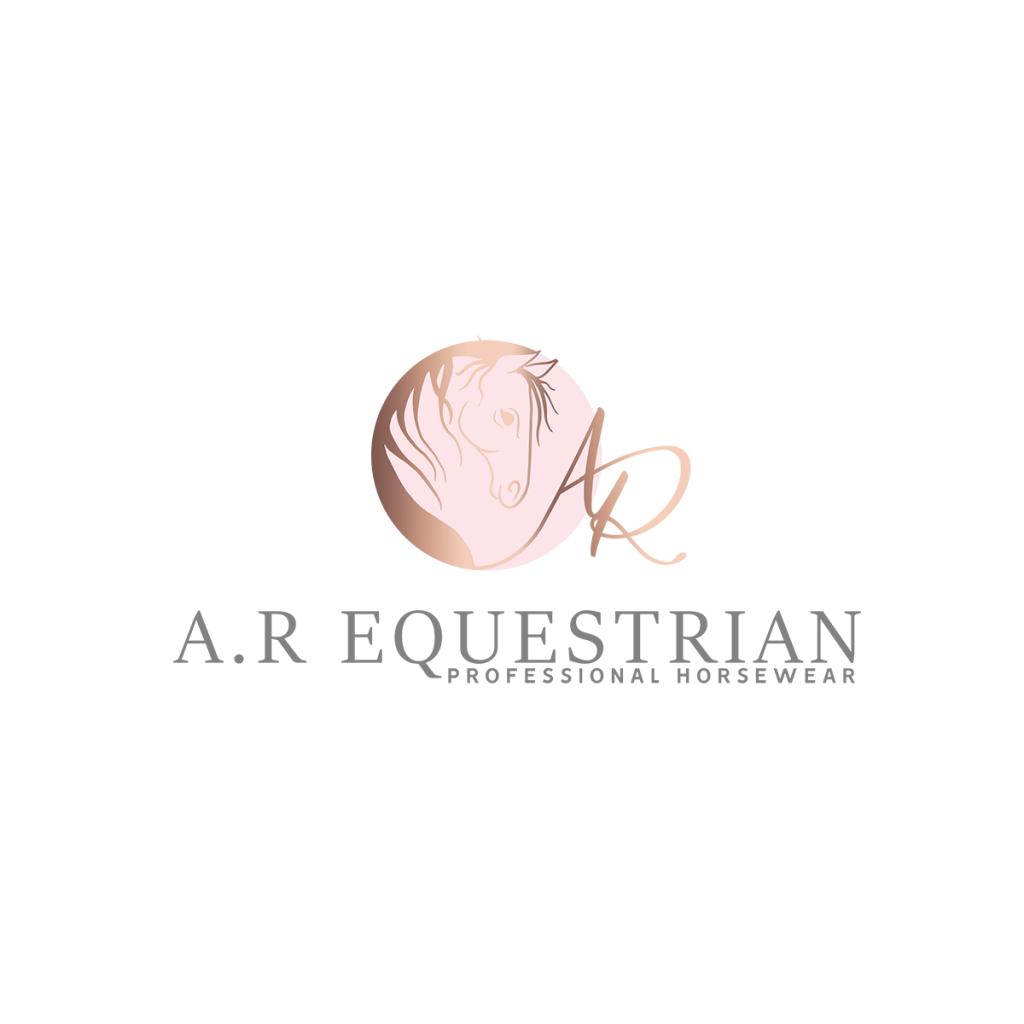 Horse Logo, equestrian logo, equestrian clothing, logo design, pink, rose gold, pet logo
